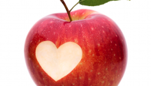 Dating Upside Down - Post - Things I Learned in 2016 - Feature Image - Apple with a heart shaped bite